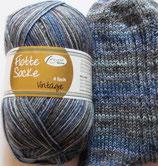 Rellana Sockenwolle, 100g, 4-fach, blau - grau