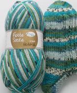 Rellana Sockenwolle, 150g, 6-fach, hellblau-grün-türkis