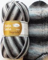 Rellana Sockenwolle, 100g, 4-fach, grau Töne mit weiß