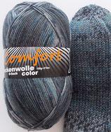 Comfort Sockenwolle, 150g, 6-fach, grau mit etwas blau