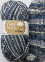 Rellana Sockenwolle, 100g, 4-fach, blau-grau gemustert