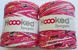 Hoooked Zpagetti Textilgarn, 2 x rot gemustert