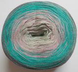 Bobbel Cotton, 4-fädig, grau-türkis-rose-lindgrün