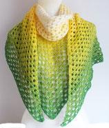 extra großes Tuch mit Farbverlauf, grün-gelb-weiß