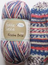 Rellana Sockenwolle, 100g, 4-fach, blau-rosa-lila