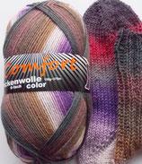 Comfort Sockenwolle, 150g, 6-fach, grau-braun-lila-rot
