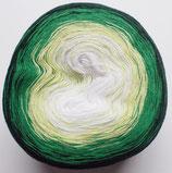 Bobbel Cotton, 4-fädig, dreierlei grün + weiß