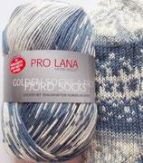 Pro Lana Sockenwolle, 100g, 4-fach,  blau-grau gemustert
