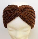 Stirnband, gestrickt, dunkelbraun