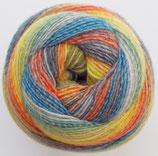 "Großknäul ""Shiva"", gelb-orange-blau-grau"