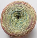 Bobbel Cotton, 4-fädig, zartes gelb mit rosa-lila-blau