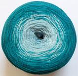 Bobbel Cotton, 4-fädig, petrol-türkis-mint-hellgrau