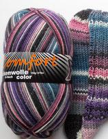 Comfort Sockenwolle, 150g, 6-fach, blau-rosa-lila