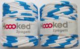 Hoooked Zpagetti Textilgarn, blau-weiß gemustert