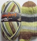 Comfort Sockenwolle, 150g, 6-fach, grün-braun-grau
