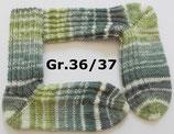 Socken, Gr.36/37, grün-weiß gemustert