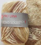 Pro Lana Sockenwolle, 100g, 4-fach,  beige gemustert