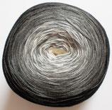 Bobbel Cotton, 4-fädig, schwarz + grau + weiß