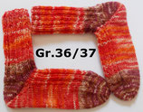 dicke Socken, Gr.36/37, orange-braun