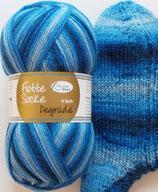 Rellana Sockenwolle, 100g, 4-fach, blau Töne