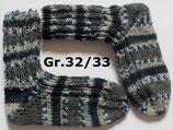 dicke Kindersocken, Gr.32/33, grau-blau gemustert