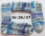 Socken, Gr.36/37, blau-Töne mit weiß