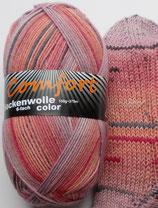Comfort Sockenwolle, 150g, 6-fach, altrosa-flieder mit Streifen