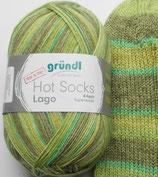 Gründl Sockenwolle, 100g, 4-fach, grün Töne