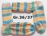 Socken, Gr.36/37, blau-gelb-grün