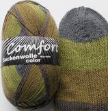 Comfort Sockenwolle, 100g, 4-fach, grün - braun - grau