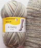 Regia Sockenwolle, 100g, 4-fach, beige-grau gemustert