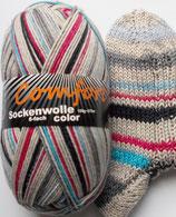 Comfort Sockenwolle, 150g, 6-fach, beige bunt