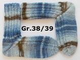 dicke Socken, Gr.38/39, blau - braun gemustert