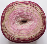 Bobbel Cotton, 4-fädig, bordeaux-beige-rosa-weiß