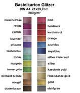 (20,97€/m²) Rayher Bastelkarton Glitter 21x29,7cm