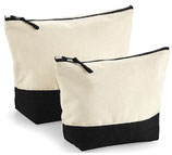 Dipped Base Canvas Accessory Bag Black