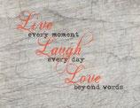 """LIVE LAUGH LOVE"" Plotterdatei"