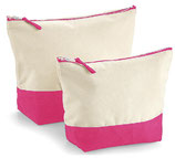 Dipped Base Canvas Accessory Bag Pink