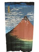 Noren Le Mont Fuji Rouge