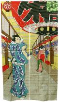 """Noren """"Promenade dans le Quartier d'Asakusa"""""""