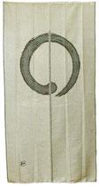 Noren long Ambiance Zen (fond beige)