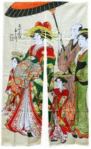 """Noren """"Escapade en famille dans le Japon d'Edo"""""""
