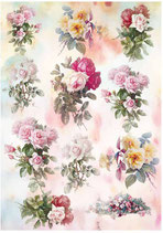PAPEL ARROZ ROSAS COLORES