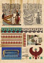 PAPEL DECOUPAGE VIAJES EGIPTO JEROGLÍFICO