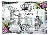 PAPEL ARROZ LONDRES VINTAGE