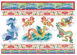 PAPEL ARROZ DRAGONES CHINOS