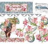 PAPEL ARROZ ART NOUVEAU FLORES