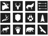 SET MINI PLANTILLAS ANIMALES BOSQUE