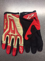 Alpinestars youth dual gloves Red