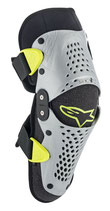 Alpinestars SX-1 Youth Knee Protector Silver Yellow Fluo